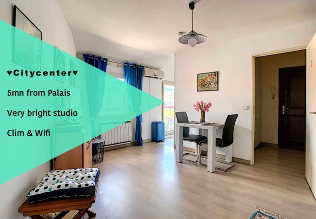 Studio à Cannes - ⚜️Cannes - Studio moderne 5mn Palais☀️