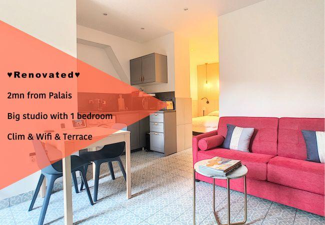 Appartement à Cannes - ⚜️Cannes-2 pièces patio 2mn du Palais❤️